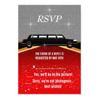 Röda Hollywood mattar OSAmallen 8,9 X 12,7 Cm Inbjudningskort