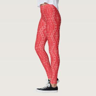 Röda Indi pattern-89 Leggings