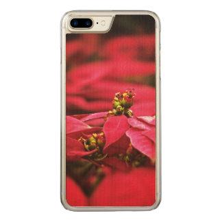 Röda julstjärnablommor carved iPhone 7 plus skal