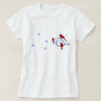 Röda kardinaler. JulgåvaT-tröja T-shirts