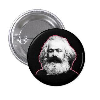 Röda Karl Marx skisserar/svarten Mini Knapp Rund 3.2 Cm
