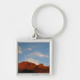 Röda klippor av Zion Fyrkantig Silverfärgad Nyckelring