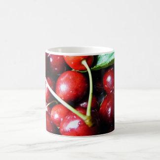 Röda körsbär kaffemugg