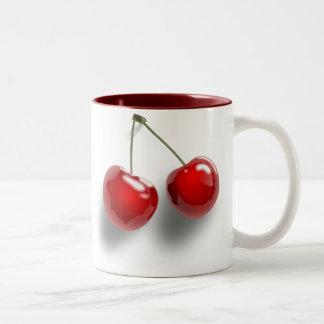 Röda körsbär Två-Tonad mugg