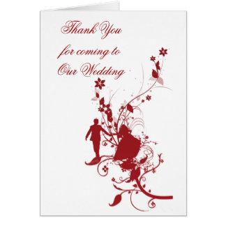 Röda kort för bröllopgästtack