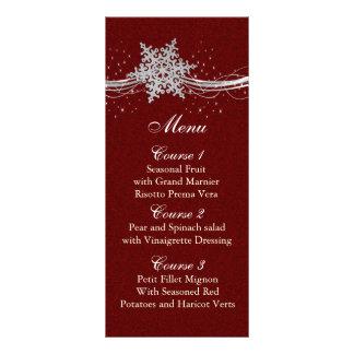 röda kort för meny för bröllop för