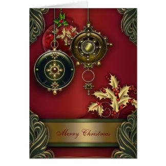 Röda kristna julkort hälsningskort