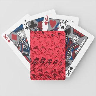 Röda leka kort för Retro vintagevågar Spelkort