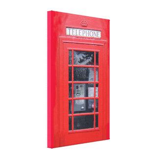 Röda London ringer boxas Canvastryck