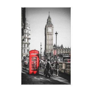 Röda London ringer boxas i Westminster Canvastryck
