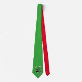 Röda Nosed Rudolph med moustachen + din idé Slips