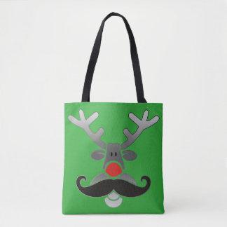 Röda Nosed Rudolph med moustachen + din idé Tygkasse