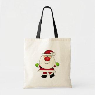 Röda Nosed Santa hänger lös Tygkasse