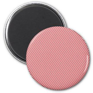 Röda och för vit diagonala randar kylskåpmagneter