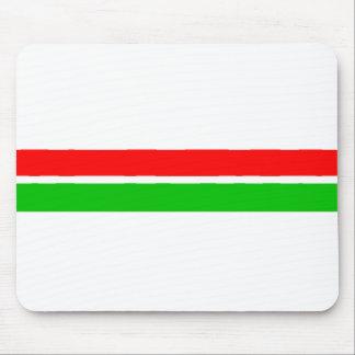 Röda och gröna julrandar musmattor