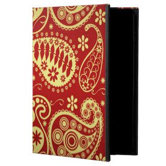 Röda och guld- paisley powis iPad air 2 skal