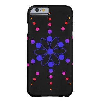 Röda och rosa blommig pärlor för blått, barely there iPhone 6 fodral