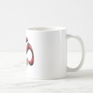 Röda och svart Aum Kaffemugg