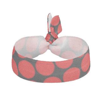 Röda och svart Ties för polka dotsresårhår Hårband