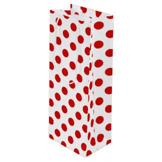 Röda och vitpolka dots
