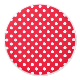 Röda och vitpolka dots knopp
