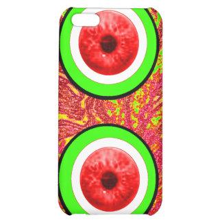 Röda ögonglober görar grön de MUSEUMZazzle gåvorna iPhone 5C Fodral