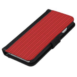 Röda Ombre randar iPhone 6/6s Plånboksfodral