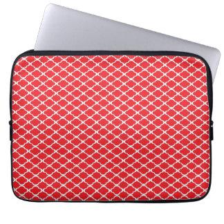 Röda Quatrefoil Laptop Sleeve