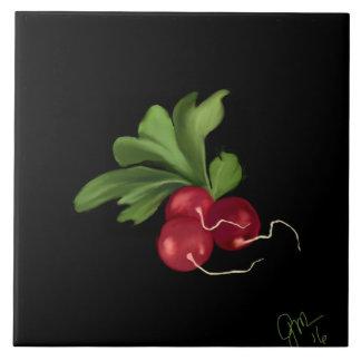 Röda rädisor kakelplatta