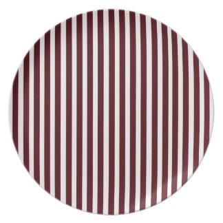 Röda randar för Cranberry för Melaminejultallrikar Tallrik