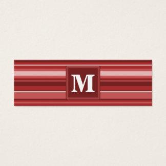 Röda randar för Monogram Litet Visitkort