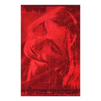 Röda reflexioner anpassningsbara brevpapper