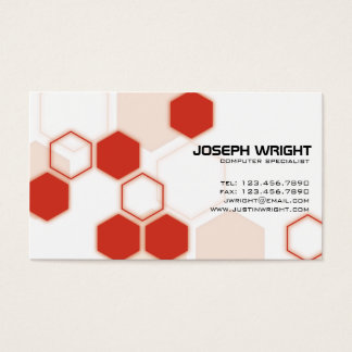 Röda sexhörningar - visitkort