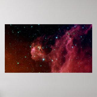 Röda Sig07-006 dammar av himmelmolnNASA Poster