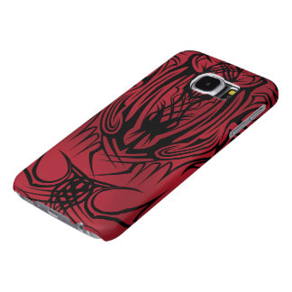 Röda stam- fodral för galax S6 Samsung Galaxy S6 Fodral