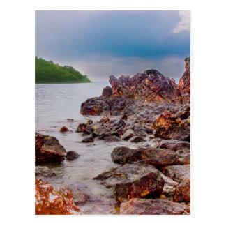 röda stenar av fiji vykort
