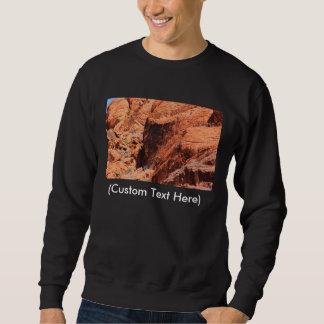 Röda stenklättrare lång ärmad tröja