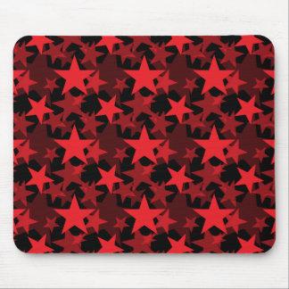 Röda stjärnor 3 musmattor