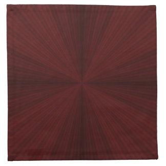 Röda strålar inkvarterade servetter