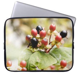 Röda & svart höstbär laptop sleeve