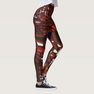 Röda, svarta och mörkfärger slogg in lite varstans leggings