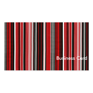Röda svartvita randar visitkort mallar