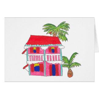 Röda takhuskort hälsningskort