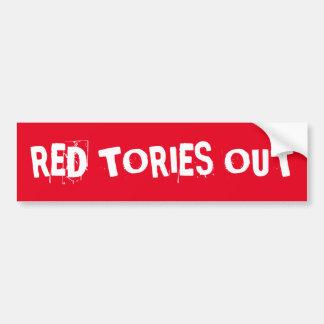 Röda Tories ut Bildekal