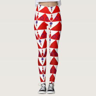 Röda trianglar leggings