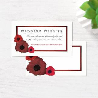 Röda vallmor och BurlapbröllopWebsite Visitkort