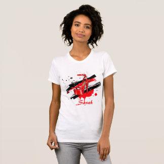 Röda & vit hoad högklackar för svart, tee shirts