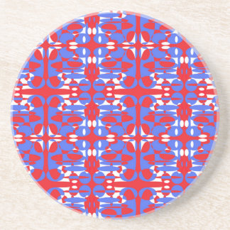Röda vit- och blåttspheres underlägg
