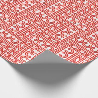 Röda & vitNice jul Presentpapper