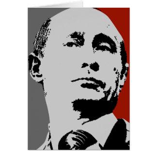 Röda Vladimir Putin Hälsningskort